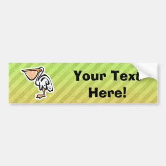 Cute Pelican; Colorful Car Bumper Sticker