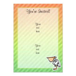 Cute Pelican; Colorful Card