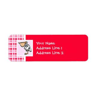 Cute Pelican Label