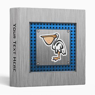 Cute Pelican; Metal-look Vinyl Binders