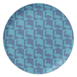cute pelican pattern naples florida plate