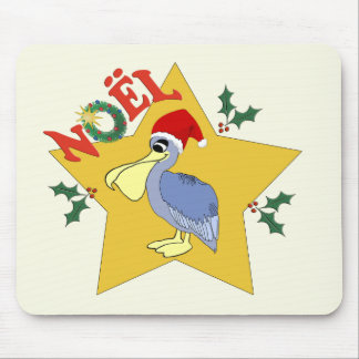 Cute Pelican Santa Noel Mouse Pad