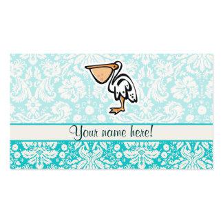 Cute Pelican; Teal Business Card