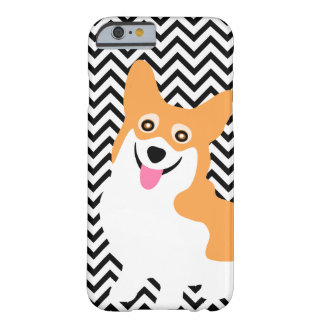 Cute Pembroke Welsh Corgi Puppy Chevron Barely There iPhone 6 Case