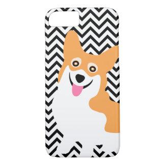 Cute Pembroke Welsh Corgi Puppy Chevron iPhone 8/7 Case