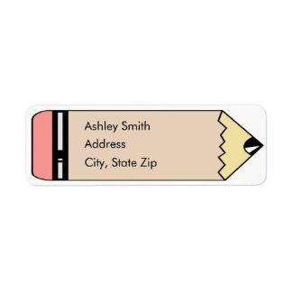 Cute Pencil Return Address Labels label