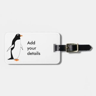 Cute Penguin, add details Luggage Tag