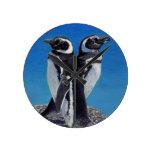 Cute Penguin Art Wall Clock