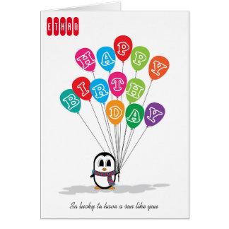 Cute Penguin Birthday Card
