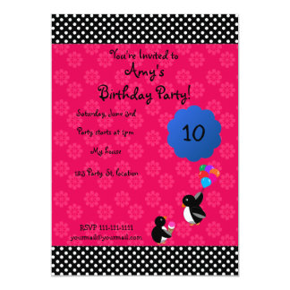 """Cute penguin birthday invitation 5"""" x 7"""" invitation card"""
