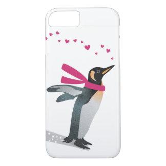 Cute penguin blowing heart kisses. iPhone 7 case