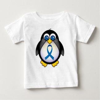 Cute Penguin Blue Ribbon Awareness Baby T-Shirt
