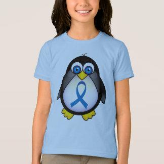 Cute Penguin Blue Ribbon Awareness T-Shirt