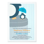 Cute Penguin Boy Baby Shower Invitation