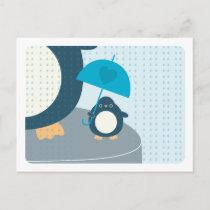 Cute Penguin Boy Words of Advice Mommy Postcard