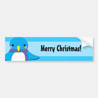Cute Penguin Bumpersticker Car Bumper Sticker