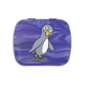 Cute penguin candy tins
