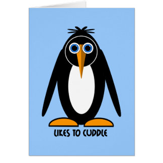 cute penguin card