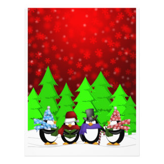 Cute Penguin Carolers Flyer