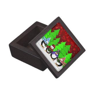 Cute Penguin Carolers Premium Gift Box
