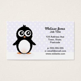 Cute penguin cartoon business card