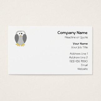 Cute Penguin Cartoon. Business Card