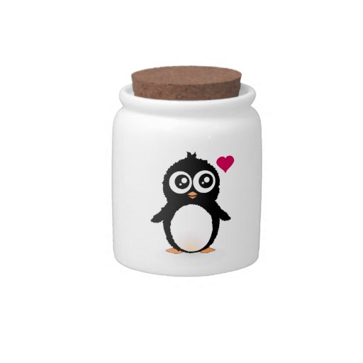 Cute penguin cartoon candy dishes