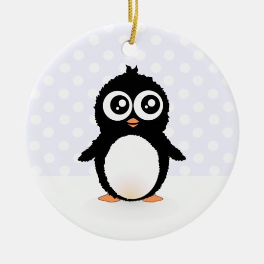 Cute penguin cartoon ceramic ornament