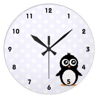 Cute penguin cartoon wallclocks