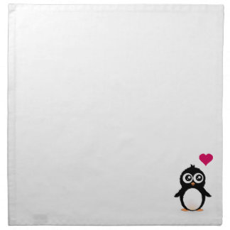 Cute penguin cartoon cloth napkin