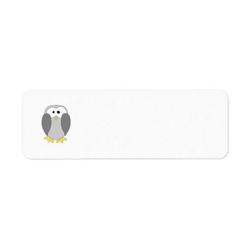 Cute Penguin Cartoon. Custom Return Address Labels