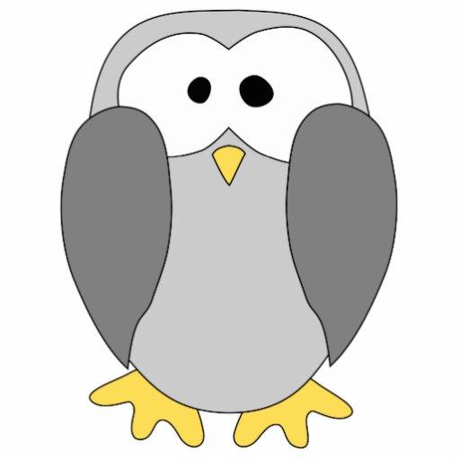 Cute Penguin Cartoon. Cut Outs