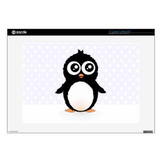 Cute penguin cartoon decal for laptop