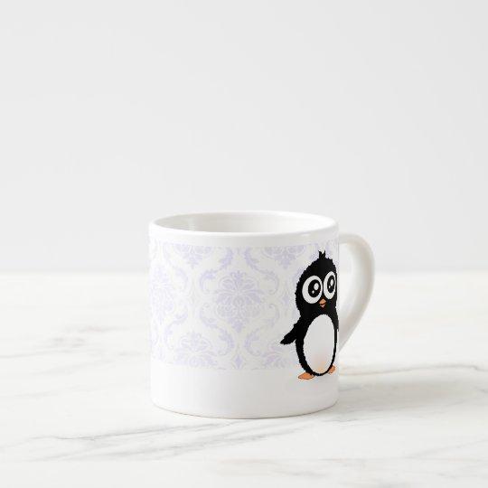 Cute penguin cartoon espresso cup