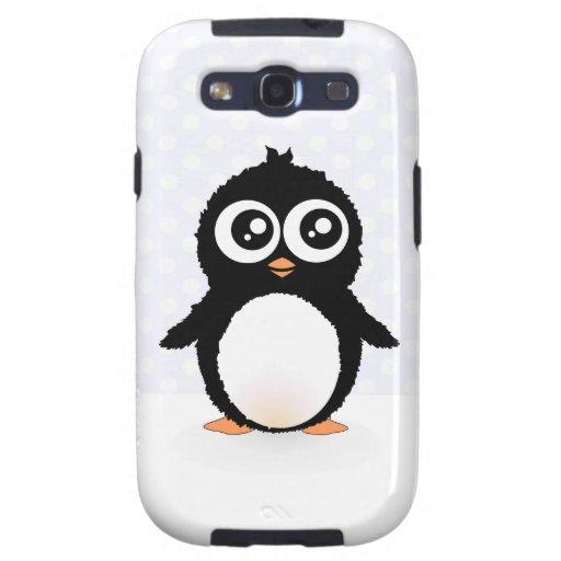 Cute penguin cartoon galaxy s3 cover