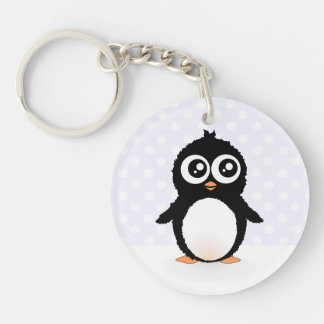 Cute penguin cartoon keychain