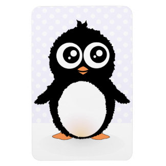 Cute penguin cartoon magnet