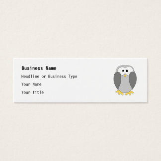 Cute Penguin Cartoon. Mini Business Card