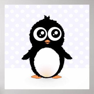 Cute penguin cartoon poster