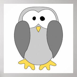 Cute Penguin Cartoon. Poster