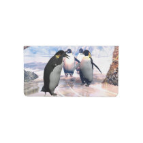 Cute penguin checkbook cover