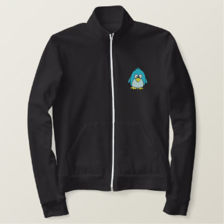 cute penguin Chill Out! Embroidered Jacket