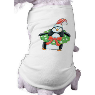 Cute Penguin Christmas Dog t-shirt