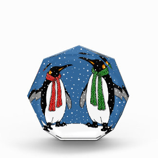Cute Penguin Couple, Christmas Scarves, Snowflakes Award