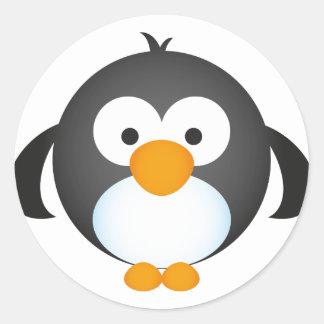 Cute Penguin design Classic Round Sticker