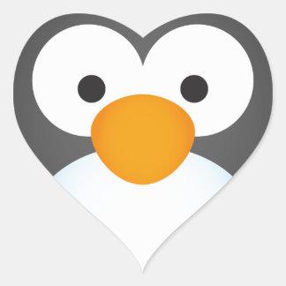 Cute Penguin design Heart Sticker