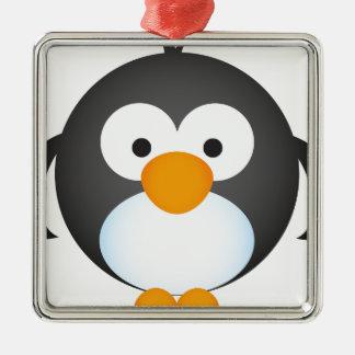 Cute Penguin design Metal Ornament