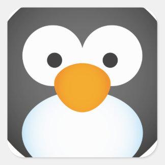 Cute Penguin design Square Sticker