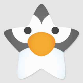 Cute Penguin design Star Sticker