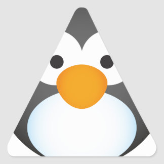 Cute Penguin design Triangle Sticker